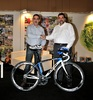On the left the owner of SP-TABLEWARE PRO CYCLING TEAM, Mr. Pantelis Papazoglou and on the right the trade director of N.M.S.A, Mr. Dimitris Alexiou