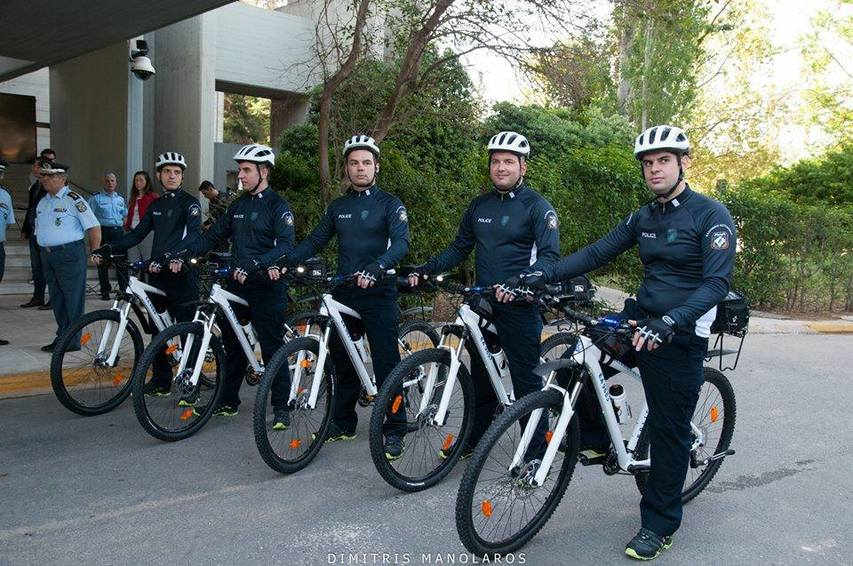 GREEK POLICE WITH IDEAL BIKES