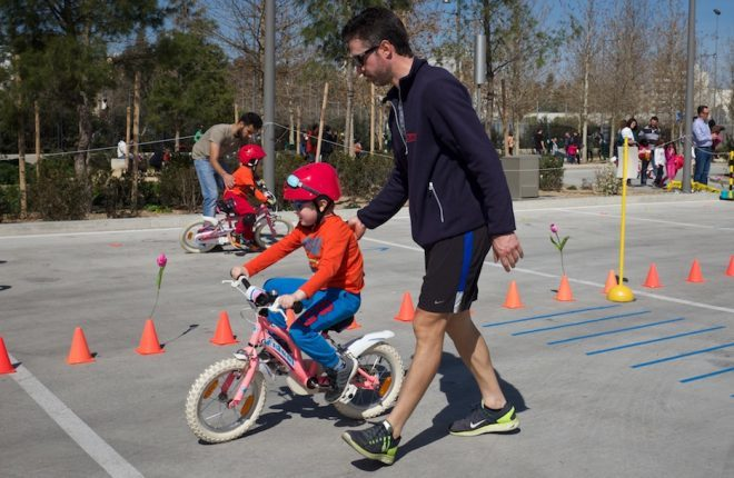 Kids learn how to bike at KPISN